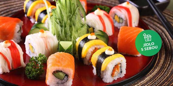 Vezměte si své oblíbené sushi s sebou. 30% sleva na sushi v restauraci Sushi Oishi na Novém Městě/Praha 1 - Nové Město