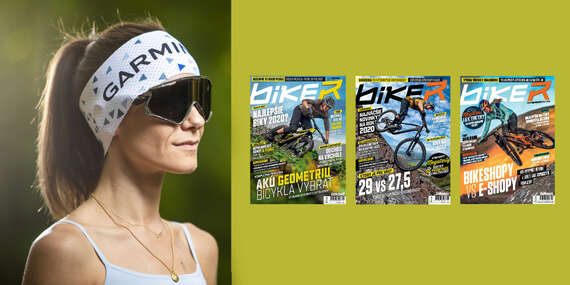 Ročné predplatné časopisu Biker s cyklomapami a kalendárom + funkčná čelenka Garmin/Slovensko