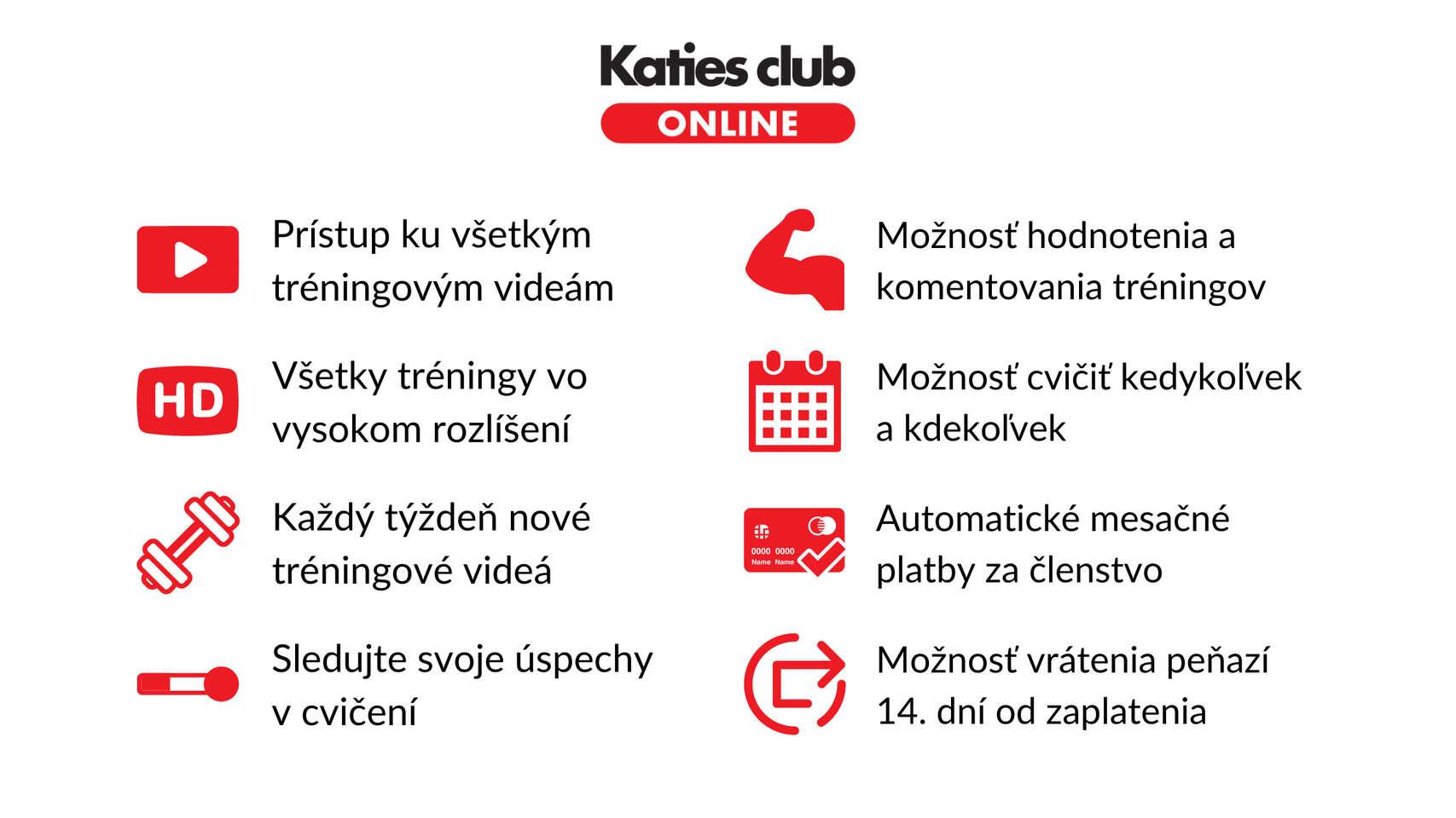 Prémiové členstvo v Katies club ONLINE - trénujte kdekoľvek a ke...