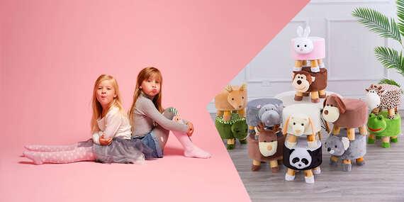 Detské taburetky so zvieracím motívom – premeňte detskú izbu na rozprávkové kráľovstvo/Slovensko