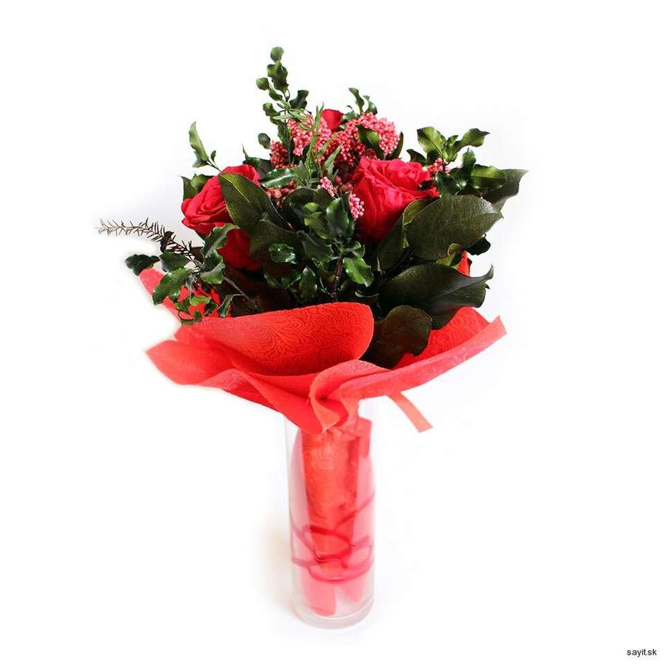 Živé kvety alebo trvácne kytice s donáškou