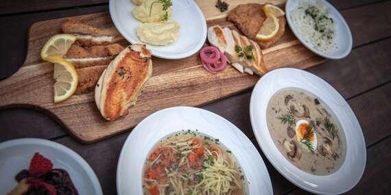 Obľúbené 3-chodové menu v reštaurácii Leberfinger/Bratislava – nábrežie Dunaja