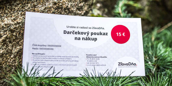 Darčekový poukaz na nákup služieb na ZľavaDňa/Celé Slovensko