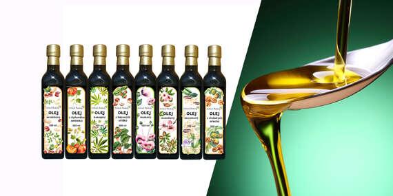 Oleje vyrobené v Čechách - makový, mandľový, tekvicový, sezamový alebo z vlašských orechov/Slovensko