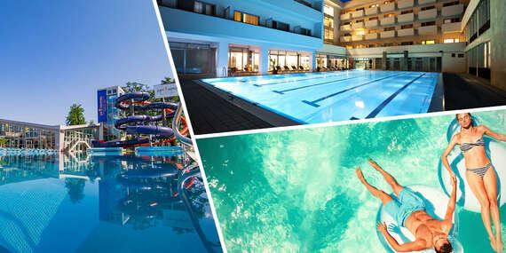 Limitovaný letný relax v Turčianskych Tepliciach so vstupom do aquaparku a ubytovaním v Liečebnom dome Veľká Fatra**** alebo Aqua**/Turčianske Teplice
