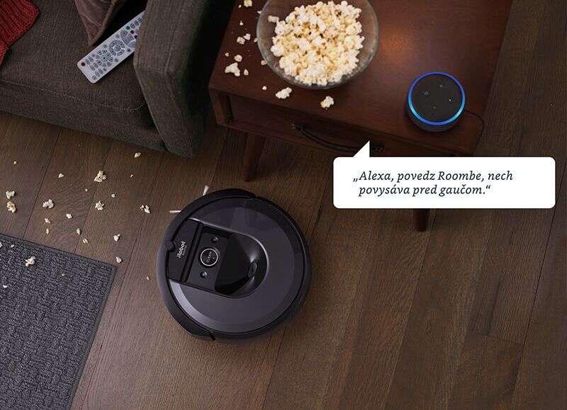 iRobot Roomba i7+ – robotický vysávač s automatickým vyprázdňovaním načistôt