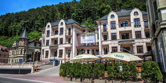 Relaxačný pobyt pre 2 osoby s polpenziou, wellness a masážou v jedinečnom hoteli MOST SLÁVY*** / Trenčianske Teplice