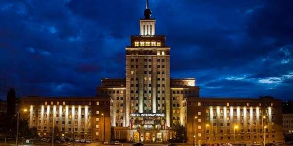 Výjimečný hotel International**** Prague v historické budově blízko pražských památek včetně snídaně/Praha