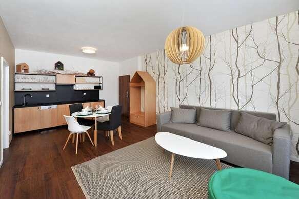 Moderné a plne vybavené apartmány v najvyhľadávanejšej lokalite v Tatrách pre rodiny s deťmi s raňajkami.