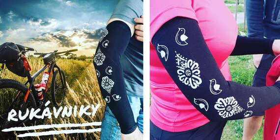 Bezšvový, ergonomický, elastický a rýchlo schnúci rukávnik na bicykel alebo beh s krásnym vzorom/Slovensko