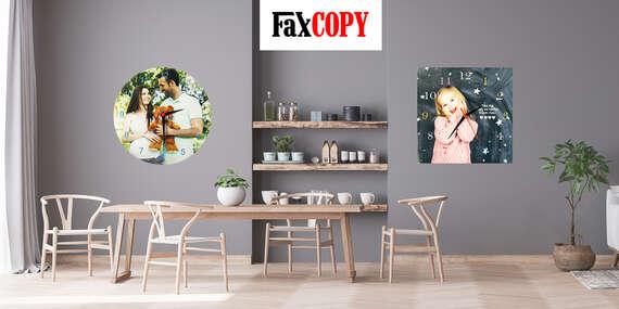 Originálne nástenné fotohodiny s vlastným motívom s osobným odberom ZADARMO až v 40 predajniach FaxCOPY/Slovensko