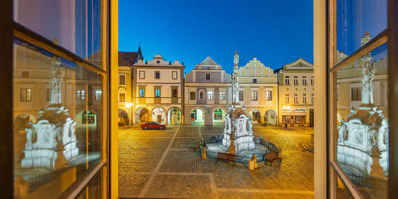 Pohádkové ubytování ve čtyřhvězdičkovém hotelu Zlatá hvězda v srdci Třeboně s polopenzí a možností whirpool či fangoterapie / Třeboň