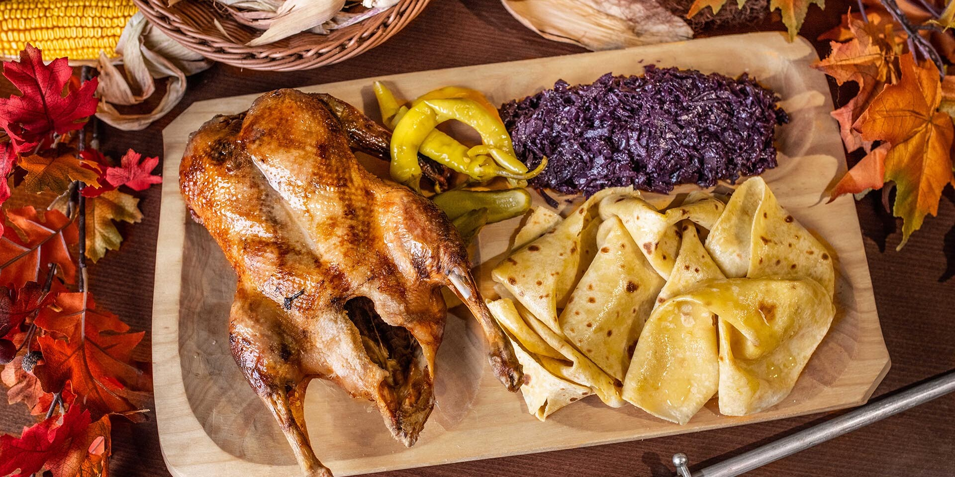 Pečená kačica pre 1, 2 aj 4 osoby v reštaurácii Rotoska - Slovenské špeciality