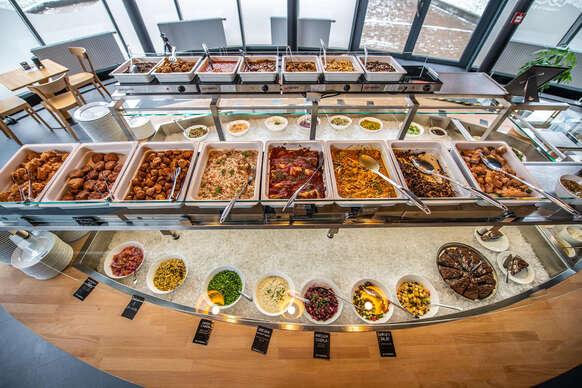 Vegánske menu v najväčšej vegánskej reštaurácii na Slovensku, so sebou
