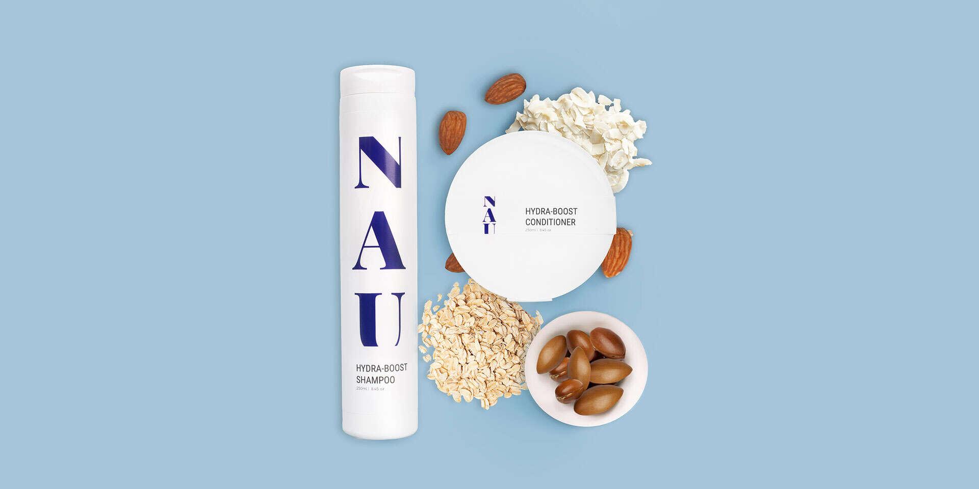Hydratačný balíček - šampón a kondicionér značky NAU cosmetic...