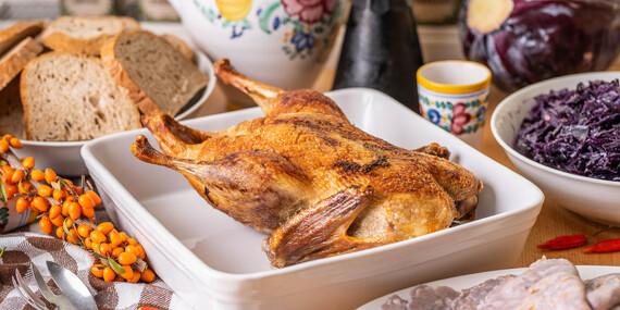 Pečená hus alebo kačka priamo na váš stôl s bezlepkovými lokšami/Bratislava