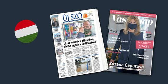Predplatné Új Szó a Vasárnap - jediný denník a najväčší týždenník v maďarčine vydávaný na Slovensku/Slovensko