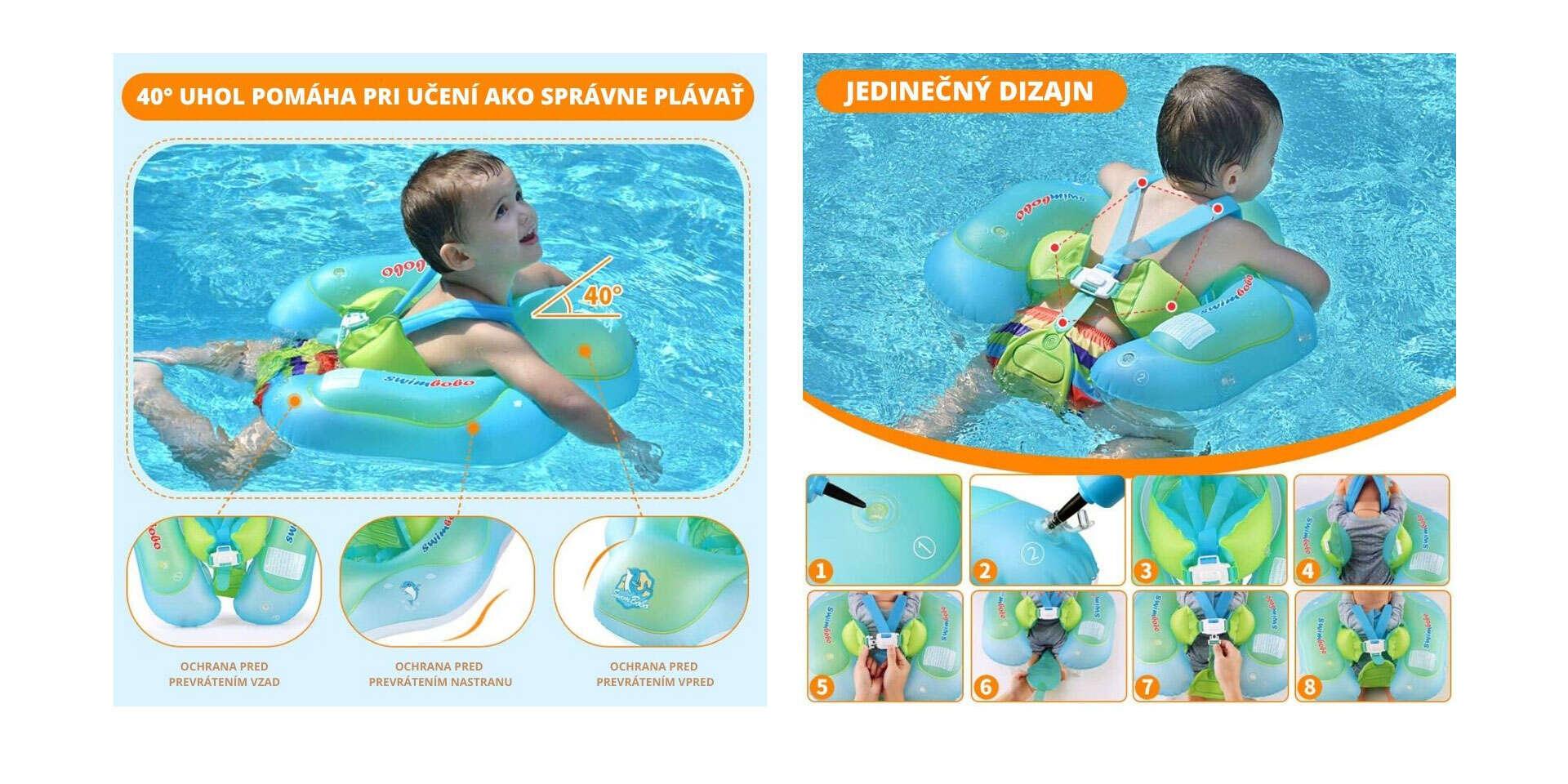 Plávacie koleso pre bábätká a deti od 6 mesiacov