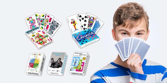 Zabavte sa kdekoľvek: Balíčky kariet a didaktických hier pre deti aj dospelých/slovensko