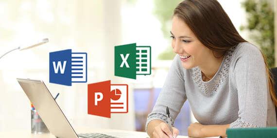 Online kurz s lektorom naživo - balík Microsoft Office - Excel, Word alebo PowerPoint/Slovensko