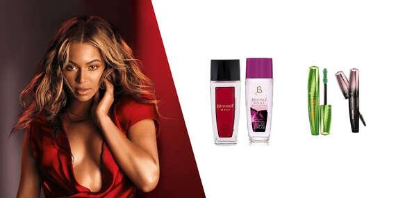 Beyoncé deo sprej, Rimmel maskara a Max Factor ceruzka na oči/Slovensko