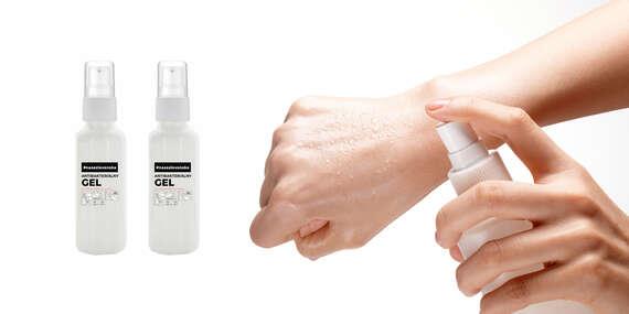 Rýchle a bezpečné čistenie rúk bez vody a mydla - antibakteriálny gél (30 ml) s rozprašovačom/Slovensko