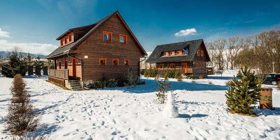 Sojka resort: Zima pre 6 osôb na Liptove v štýlových dreveniciach / Liptov – Malatíny