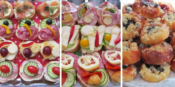 Chlebíčky, jednohubky alebo koláčiky, s donáškou k vám domov/Bratislava