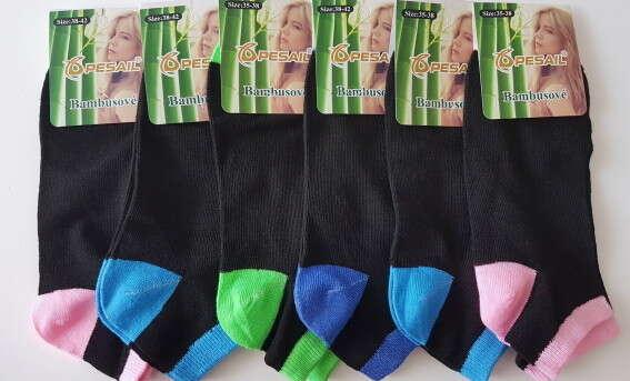 Ponožky z bambusového vlákna - krátke, členkové alebo antibakteriálne.