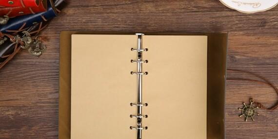 Poznámkový blok v pôsobivom vintage štýle, do ktorého je radosť písať - vyberte si zo 6 variantov/Slovensko