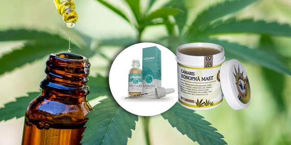 Konopné produkty CBD - pomocník s nespavosťou a masť ako pomocník proti bolestiam a kožným problémom/Slovensko