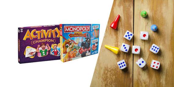 Spoločenské hry pre deti - Activity Champion alebo Monopoly Junior Electronic Banking/Slovensko