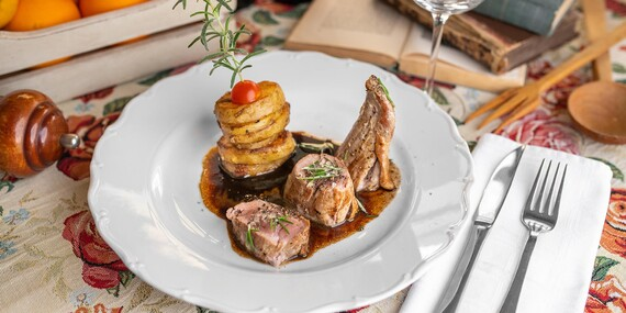 Talianske 3- alebo 5-chodové menu pre dvoch v reštaurácii Maximilián/Bratislava – Staré Mesto