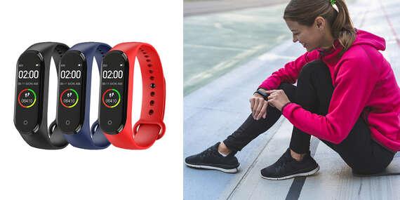 Fitness hodinky - náramok M4 Smart Band/Slovensko