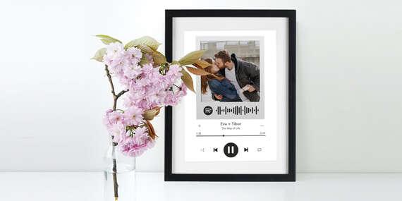 Spotify Love Frame - originálny darček nielen pre zamilovaných/Slovensko