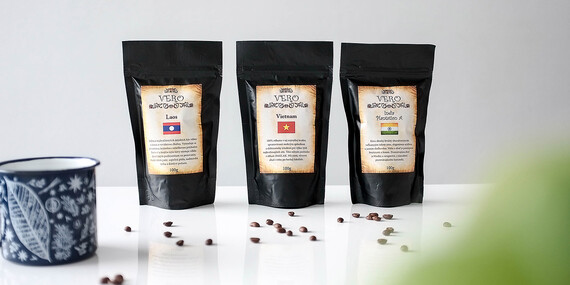 Degustačné balíky zrnkovej kávy z Afriky, Ázie, Brazílie, Ethiopie a ďalších kútov sveta/Slovensko