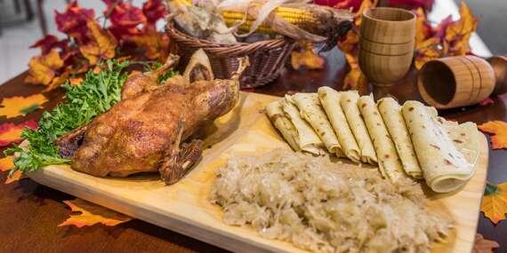 Pečená kačica pre 1, 2 aj 4 osoby v reštaurácii Rotoska - Slovenské špeciality/Bratislava – Rača
