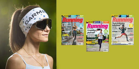 Ročné predplatné časopisu Running + funkčná čelenka Garmin/Slovensko