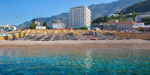 Týždeň pri mori v Čiernej Hore v hoteli Sato**** len 30 m od súkromnej pláže (oficiálne prvá európska krajina bez korony)/Čierna Hora - Sutomore