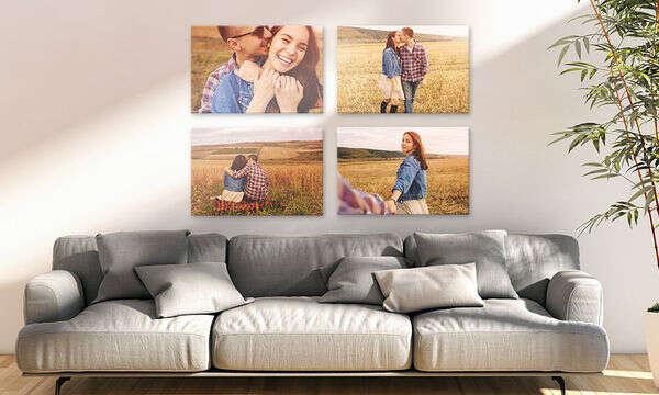 Tlač fotografií na plátno.