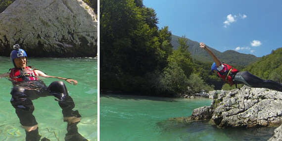 Dobrodružný canyoning v kaňone Sušec v Slovinsku/Slovinsko
