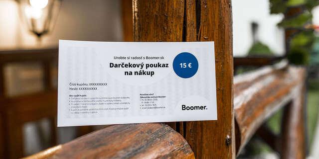 Darčekový poukaz na nákup na Boomer.sk
