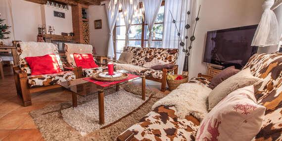 Pobyt pre skupinu na chate či v apartmáne Alpina s možnosťou wellness/Lazy pod Makytou