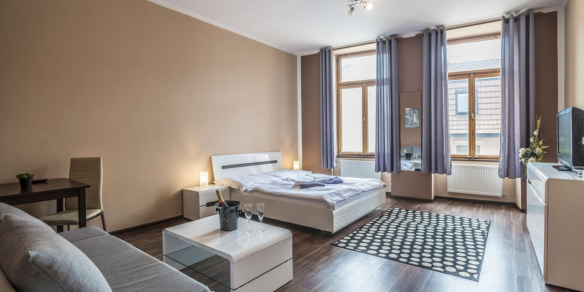 Komfortné izby alebo apartmány penziónu TIME*** priamo v centre Prešova