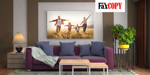 Štýlový obraz na plátne z vlastnej fotografie s osobným odberom ZADARMO až v 39 predajniach FaxCOPY/Slovensko