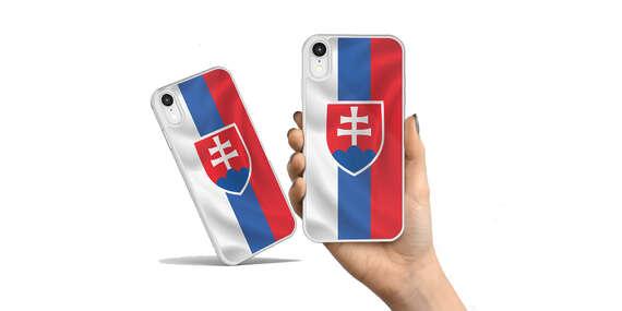Odolný obal na mobil z pevného polykarbonátu vo farbách slovenskej trikolóry/Bratislava