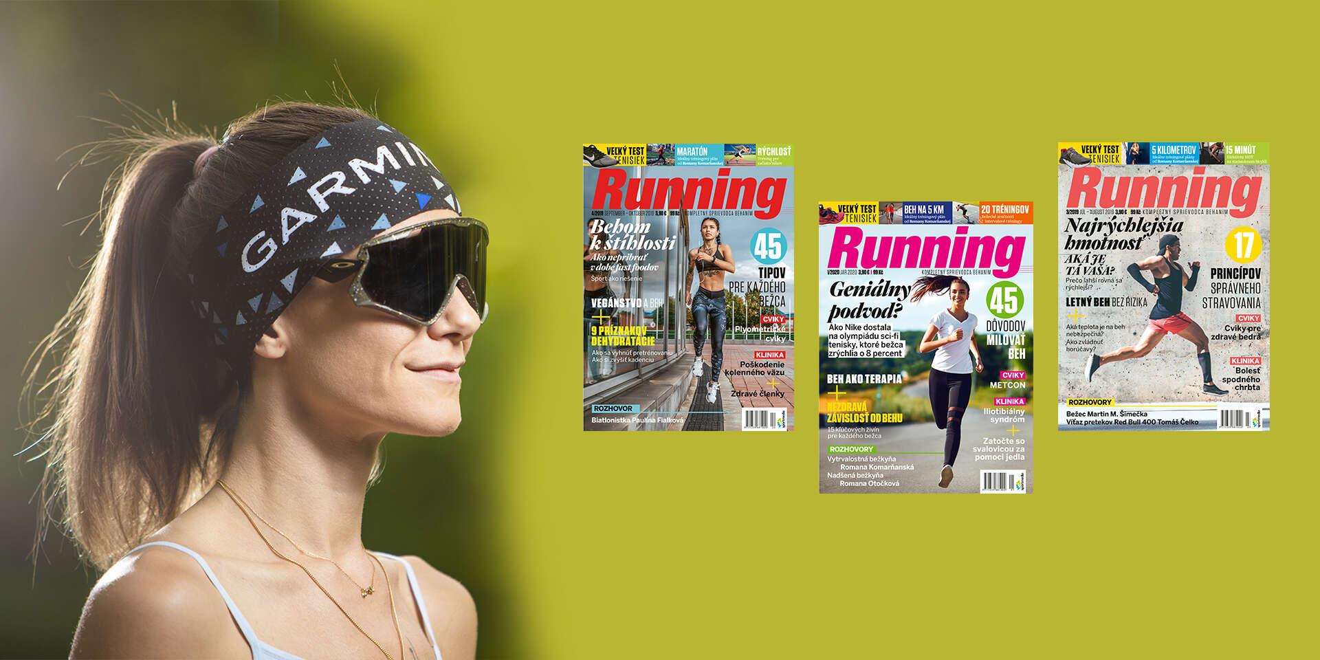 Ročné predplatné časopisu Running + funkčná čelenka Garmin