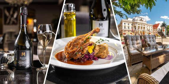 Kačacie stehno s dezertom v Hamsik Prosecco Bar & Restaurant, aj s možňosťou take away/Bratislava - Staré Mesto