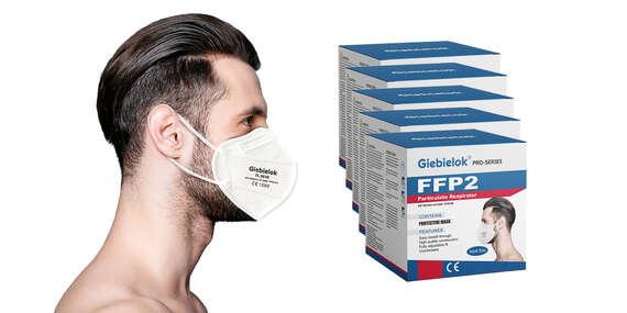 Balenie extra jemných ochrannýchrespirátorov Giebielok,Pro Series FFP2/Slovensko