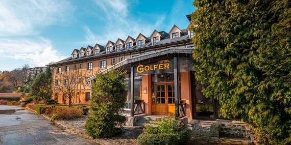 Pokojná rodinná dovolenka s polpenziou a neobmedzeným wellness v hoteli GOLFER*** v Kremnických vrchoch/Kremnica